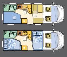 Adria Sport- Perfilada S 650 SF - Plano - Distribución