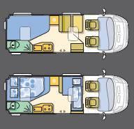 Adria Twin Twin SF - Plano - Distribución