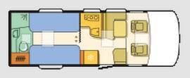 Adria Sonic Supreme  I 710 SLT - Plano - Distribución
