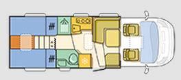 Adria Matrix Plus M 670 SL - Plano - Distribución