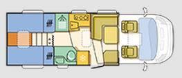 Adria Matrix Axess M 670 SL - Plano - Distribución