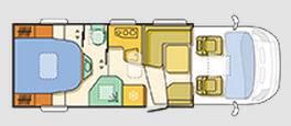 Adria Matrix Axess M 670 SBC - Plano - Distribución