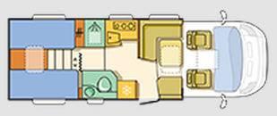 Adria Coral Axess S 670 SL - Plano - Distribución
