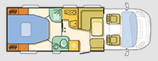 Adria Coral Axess S 690 SC - Plano - Distribución