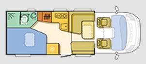 Adria Coral Axess S 650 SF - Plano - Distribución
