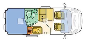 Adria Twin 540 SPT - Plano - Distribución