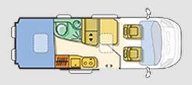 Adria Twin 600 SP - Plano - Distribución