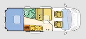 Adria Twin 600 SP - Titan - Plano - Distribución