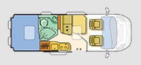 Adria Twin 600 SPT - Plano - Distribución