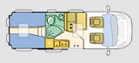 Adria Twin SLX - Plano - Distribución