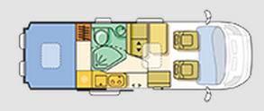 Adria Twin SHX - Plano - Distribución