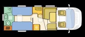 Adria MATRIX 5OY M 670 SBC-50Y - Plano - Distribución
