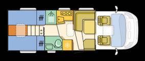 Adria MATRIX 5OY M 670 SL-50Y - Plano - Distribución