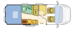 Adria Twin 600 SP Titan - Plano - Distribución