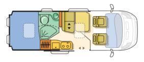 Adria Twin 600 SPT Titan - Plano - Distribución