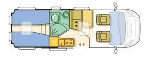Adria Twin 50Y SLX - Plano - Distribución