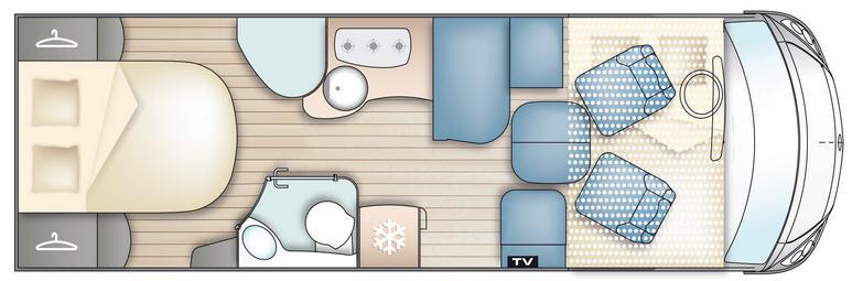 Bavaria Fjord Nordic Edition I 7402 LC - Plano - Distribución