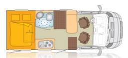Bürstner Travel Van t 571 G - Plano - Distribución