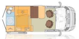 Bürstner City Car C 550 - Plano - Distribución