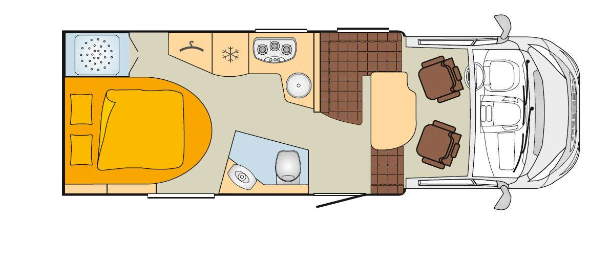 Bürstner Nexxo Time T 685 - Plano - Distribución