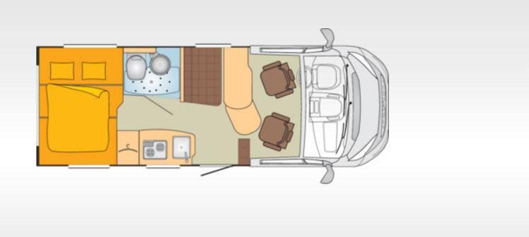 Bürstner Brevio T600 - Plano - Distribución