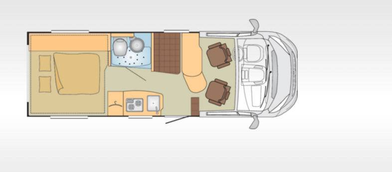 Bürstner Brevio T641 - Plano - Distribución