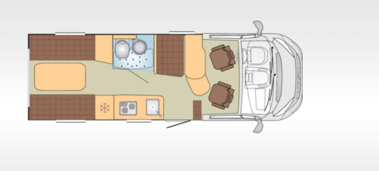 Bürstner Brevio T645 - Plano - Distribución