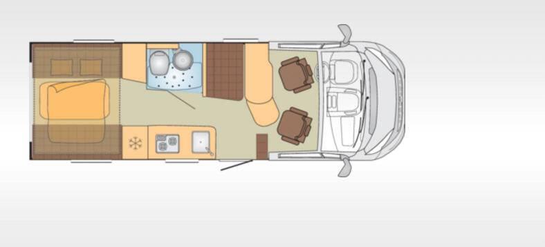 Bürstner Brevio T646 - Plano - Distribución