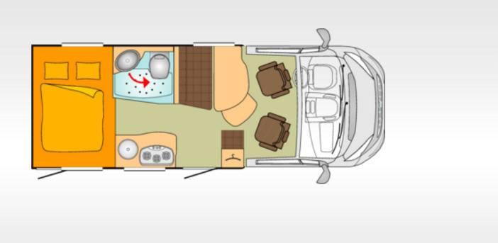 Bürstner Travel Van T590G - Plano - Distribución
