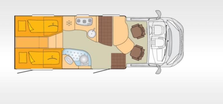 Bürstner Nexxo T690G - Plano - Distribución