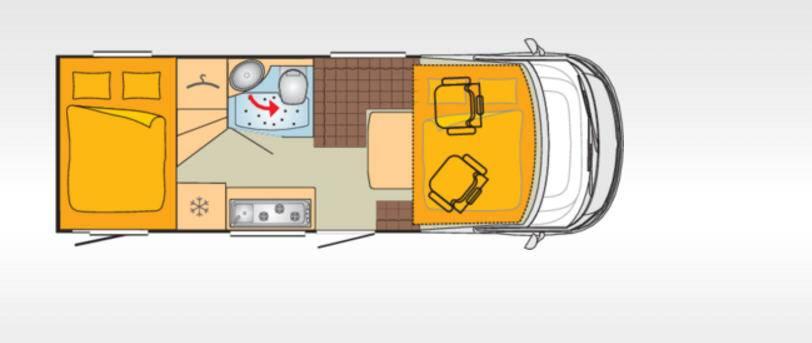 Bürstner Viseo I670G - Plano - Distribución