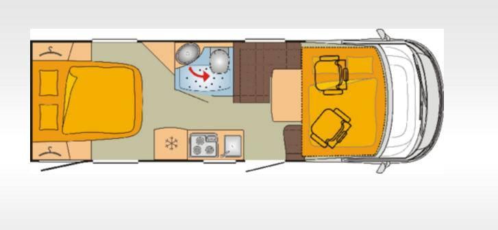 Bürstner Viseo I720G - Plano - Distribución