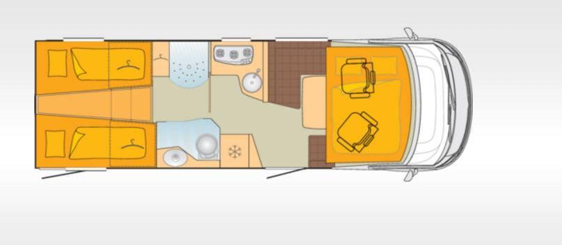 Bürstner Elegance I728G - Plano - Distribución