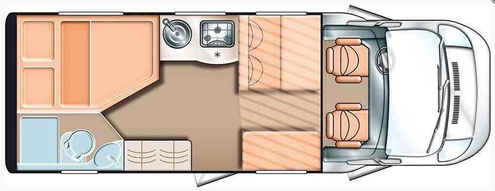 Carado T 345 - Plano - Distribución