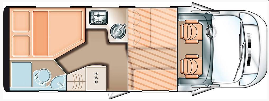 Carado T 348 2x2 - Plano - Distribución