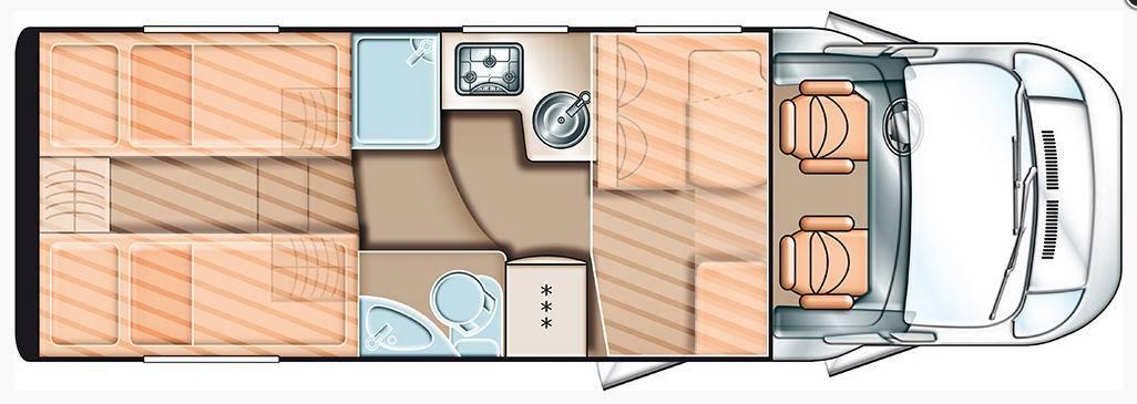Carado T 447 2x2 - Plano - Distribución