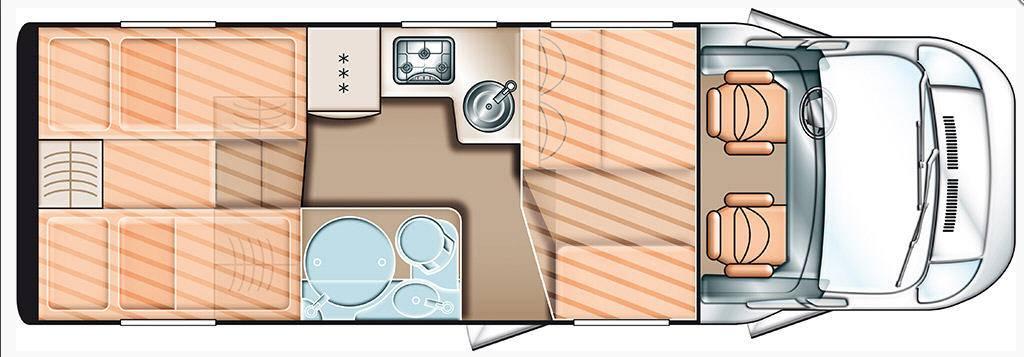Carado T 448 2x2 - Plano - Distribución
