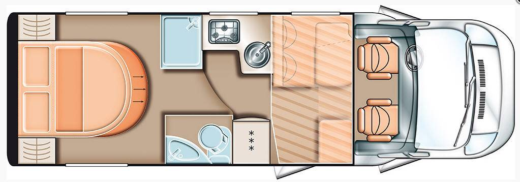 Carado T 449 - Plano - Distribución