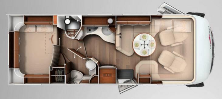 Carthago chic e-line 49 Yachting - Plano - Distribución
