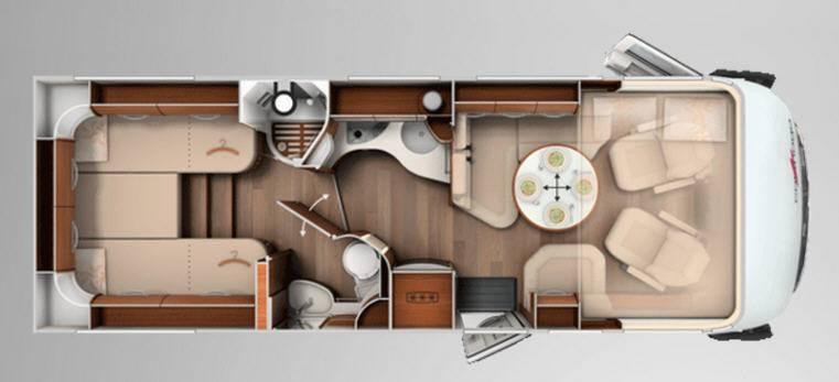 Carthago chic e-line 50 Yachting - Plano - Distribución