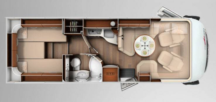 Carthago chic e-line 51 Yachting - Plano - Distribución
