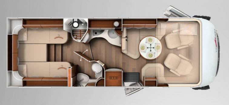 Carthago chic e-line 50 linerclass - Plano - Distribución