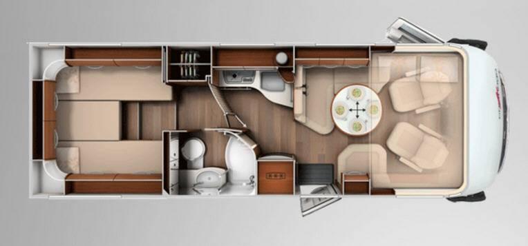 Carthago chic e-line 51 linerclass - Plano - Distribución