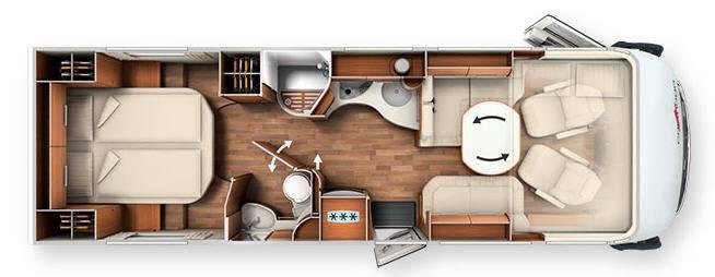 Carthago Chic c-line XL 5.8 Q - Plano - Distribución