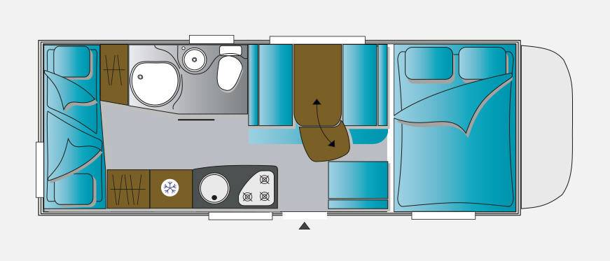 Challenger Capuchina C286 GENESIS - Plano - Distribución