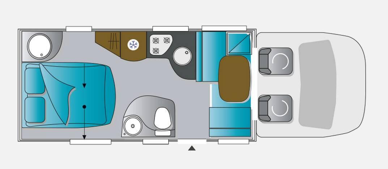 Challenger Genesis 298 - Plano - Distribución