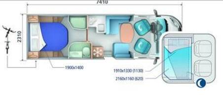 Ci MAGIS BASCULANTES MAGIS 65 XT - Plano - Distribución