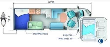 Ci RIVIERA BASCULANTES RIVIERA 95 XT - Plano - Distribución