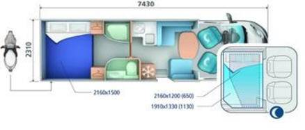 Ci RIVIERA BASCULANTES RIVIERA 99 XT - Plano - Distribución