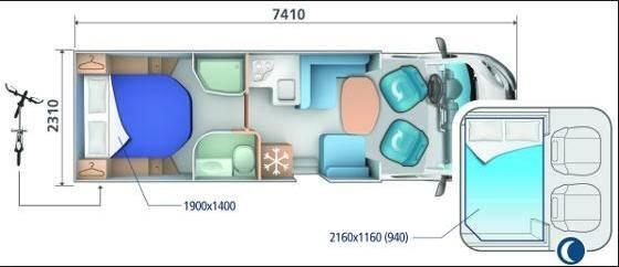 Ci SINFONIA PERFILADAS SINFONIA 65 P - Plano - Distribución